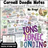 Ions and Ionic Bonding Cornell Doodle Notes Distance Learning