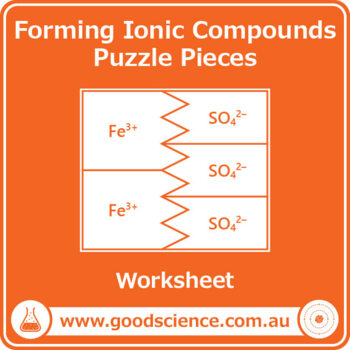 ions and ionic compounds puzzle pieces by good science worksheets. Black Bedroom Furniture Sets. Home Design Ideas