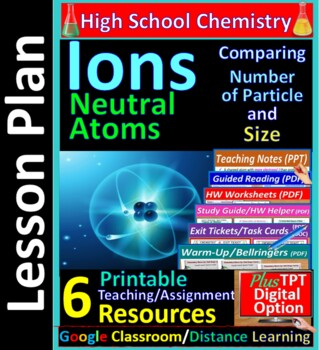 Ions and Neutral Atoms -  Worksheets & Practice Questions for HS Chemistry