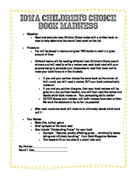 Iowa Children's Choice Book Madness Project