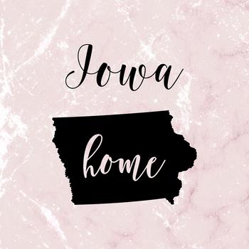 Iowa Clipart, USA State Vector Clipart, Iowa Home, Gold US Clipart