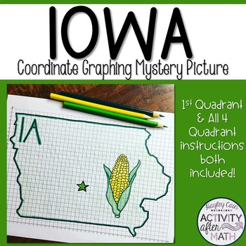 Iowa Coordinate Graphing Mystery Picture 1st Quadrant & ALL 4 Quadrants