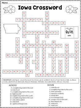 Iowa Crossword Puzzle