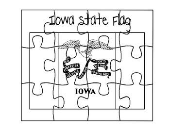 Iowa Flag Puzzle
