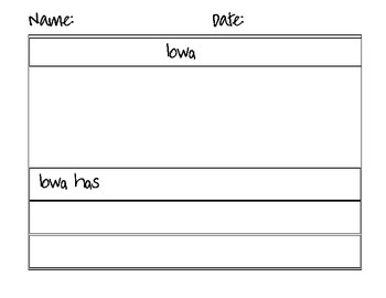 Iowa Flag and Map Counting Puzzle