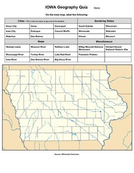 Iowa Geography Quiz