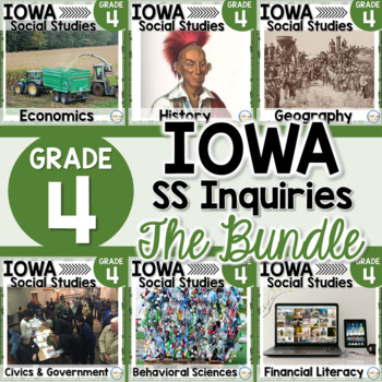 Iowa Grade 4 Social Studies Inquiries BUNDLE