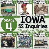 Iowa Grade 4 Social Studies Inquiries BUNDLE