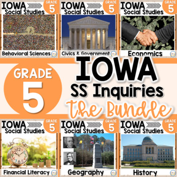 Iowa Grade 5 Social Studies Inquiries BUNDLE