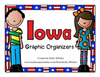 Iowa Graphic Organizers (Perfect for KWL charts and geography!)