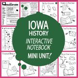 Iowa History State Study Interactive Notebook Unit + AUDIO