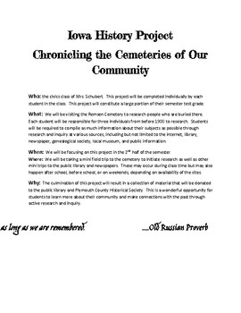 Iowa History Project:  Chronicling Our Cemeteries
