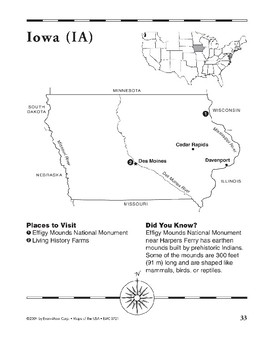 Iowa (Map & Facts)
