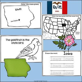 Iowa Mini Book for Early Readers - A State Study