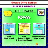 Iowa Puzzle BUNDLE - Word Search & Crossword Activities - U.S States - Google