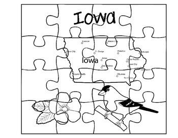 Iowa Puzzle Set