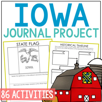 IOWA History Project, Differentiated State Research Journal {EDITABLE}