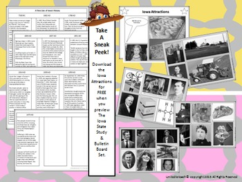 Iowa State Study and Bulletin Board Set