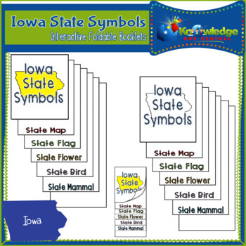 Iowa State Symbols Interactive Foldable Booklets