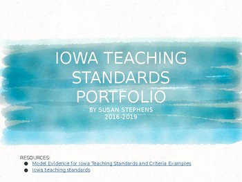 Iowa Teaching Standards Portfolio Template