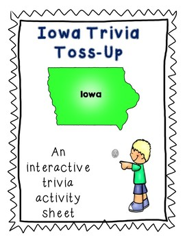 Iowa Trivia Toss-Up Challenge Activity - State Geography