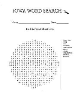 Iowa Word Search