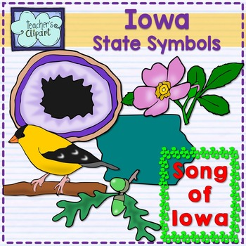 Iowa state symbols clipart