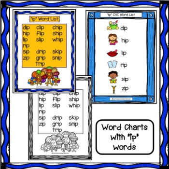 "Word Family Game for ""ip""  Words - Thanksgiving Turkey FREEBIE!"