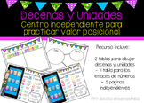 Ipad Decenas y Unidades SPANISH: tens and ones center