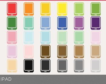 Ipad Digital Clipart, Ipad Graphics, Ipad PNG, Rainbow Ipad Digital Files