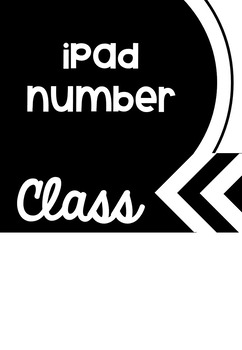 Ipad Lock/Home Screen Rules/numbers *editable*