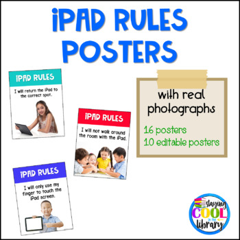 iPad Rules Posters {real photographs & editable}