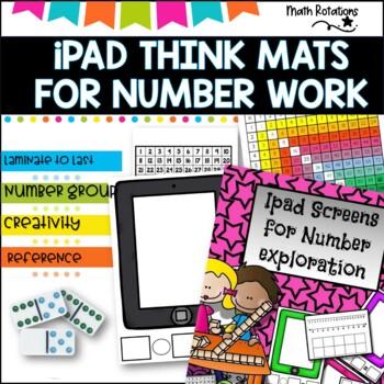 Number Exploration printable resources, Ipad screens