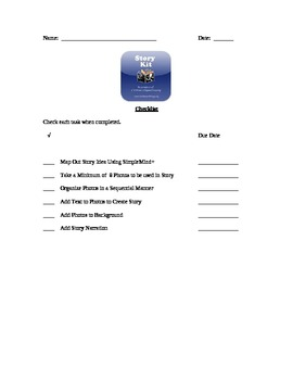 Ipad StoryKit App Assignment Student Checklist