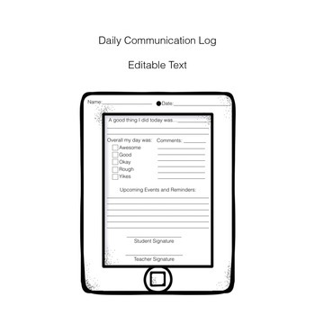 Ipad Themed Home & School Communication Set
