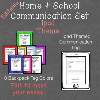 Ipad Themed Home & School Communication Set