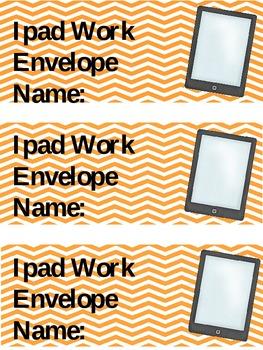 Ipad Work Envelope Label