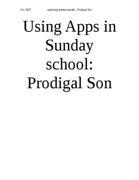 Ipad apps for Sun Sch series - Prodigal Son