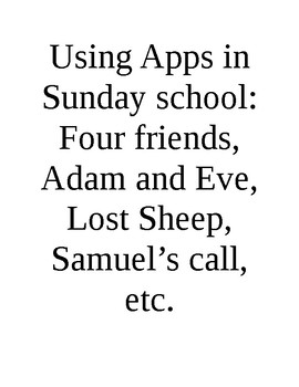 Ipad apps in Sun School series - Four friends and other simple stories