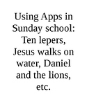 Ipad apps in Sun School series - Ten Lepers and others