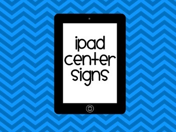 Ipad and tablet center signs