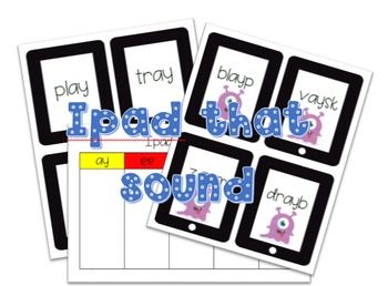 Ipad that sound ay, ee, igh, ow and oo
