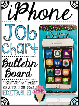 Iphone Job Chart Bulletin Board - iServe or iHelp