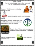 Ipod Touch/iphone Morning routine daily activity poster and worksheet