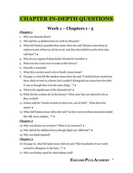 Iqbal by Francesco D'Adamo Novel Guide
