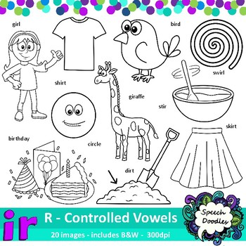 Ir Clipart - 20 images! R controlled Vowel - For commercial and personal use!
