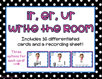 Ir, Er, Ur R-Controlled Vowels Write the Room