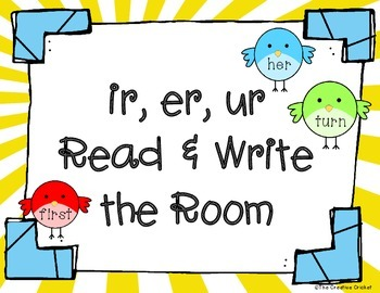 Ir, Er, Ur R-Controlled Vowels Read and Write the Room / Word Sort