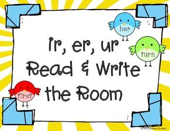 Ir, Er, Ur Read and Write the Room / Word Sort