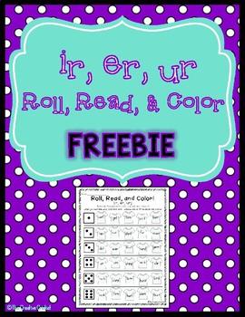 Ir, Er, Ur, Roll, Read, and Color FREEBIE